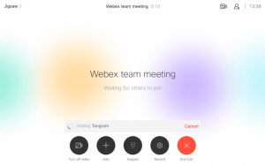 Webex Team Meeting and . Now you can easily add cloud participants to your call