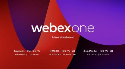 Registrieren Sie sich heute für die Teilnahme an der WebexOne 2021 am 26. und 27.Oktober!