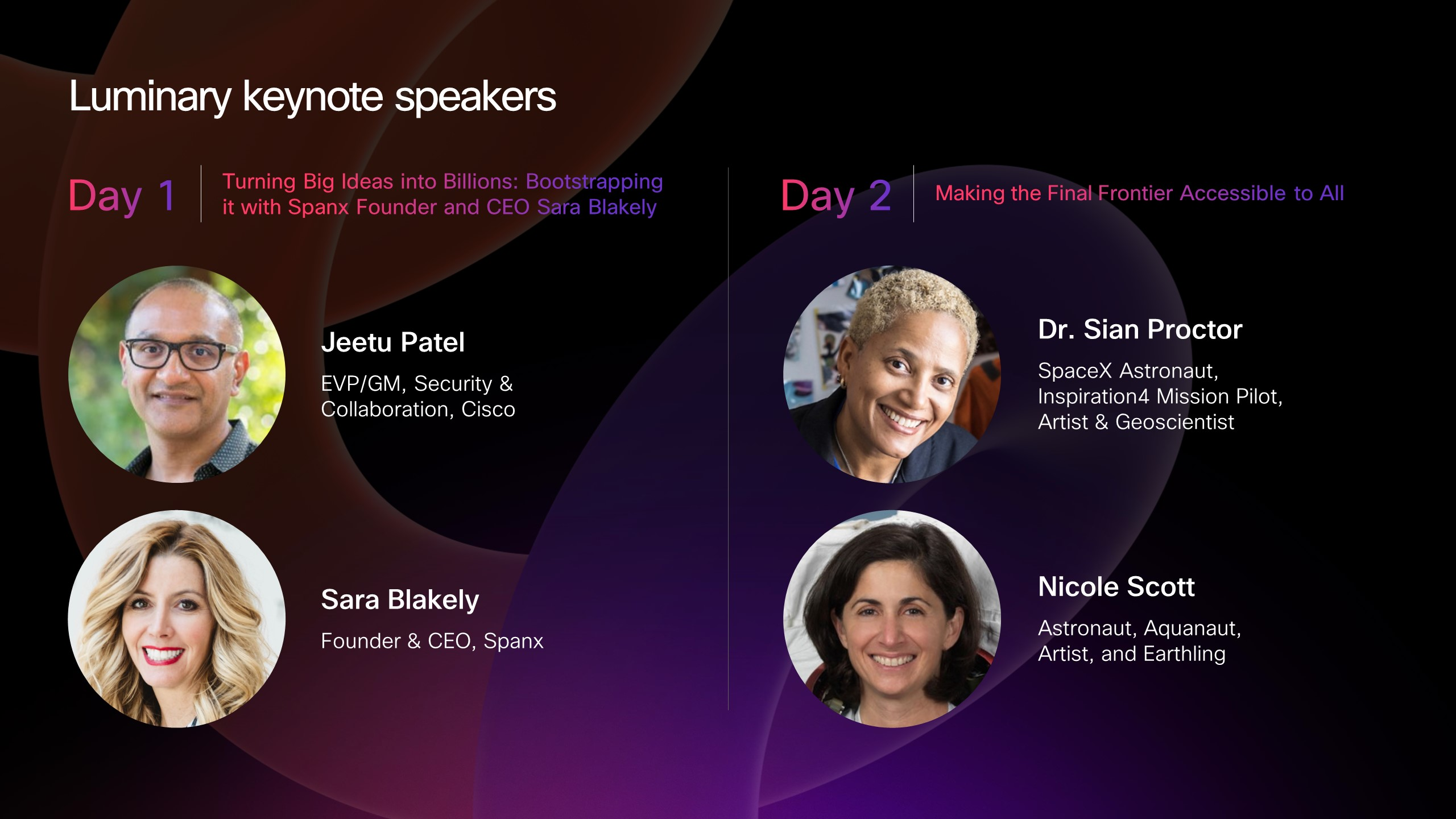 Day 1 and day 2 speakers(5)