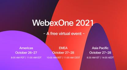 WebexOne 2021 | Neue Wege bei der Innovation, im Weltraum und im Sport